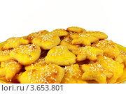 Печенье на желтой тарелке. Стоковое фото, фотограф Ольга Деева / Фотобанк Лори