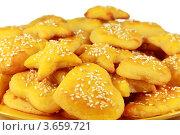 Аппетитные бисквиты с кунжутом. Стоковое фото, фотограф Ольга Деева / Фотобанк Лори