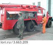 Пожарная машина. Редакционное фото, фотограф Дмитрий Никоненко / Фотобанк Лори