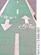 Купить «Велосипедная дорожка», фото № 3666661, снято 27 мая 2019 г. (c) Илюхина Наталья / Фотобанк Лори