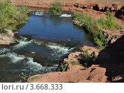 Перекаты на реке Янгиз, Оренбургская область. Стоковое фото, фотограф Алексей Сахаров / Фотобанк Лори