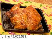 Приготовленная курица на противне. Стоковое фото, фотограф Александр Бурштын / Фотобанк Лори