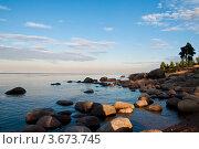 Вечер на Ладоге. Стоковое фото, фотограф Елена Серкова / Фотобанк Лори
