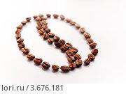 Бин символ из кофе на белом фоне. Стоковое фото, фотограф Вадим Францев / Фотобанк Лори