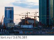 Купить «Строительство Московского международного бизнес-центра», фото № 3676381, снято 4 июля 2012 г. (c) Яков Филимонов / Фотобанк Лори