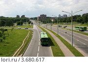 Купить «Городской пейзаж, Минск, Беларусь», фото № 3680617, снято 24 июня 2012 г. (c) Марина Шатерова / Фотобанк Лори