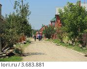 Одна из улиц Крымска после разрушительного наводнения (2012 год). Стоковое фото, фотограф Василий Пешненко / Фотобанк Лори