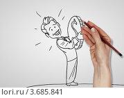 Купить «Финансовый успех в бизнесе. Бизнесмен заработал монету», иллюстрация № 3685841 (c) Sergey Nivens / Фотобанк Лори