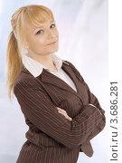 Портрет молодой деловой блондинки. Стоковое фото, фотограф Юлия Шевченко / Фотобанк Лори