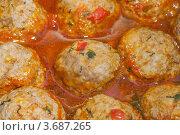 Вкусные мясные тефтели. Стоковое фото, фотограф Алексей Судариков / Фотобанк Лори