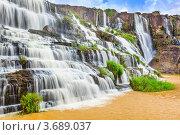 Водопад Pongour, Вьетнам. Стоковое фото, фотограф Ольга Хорошунова / Фотобанк Лори