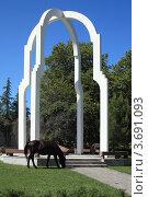 Купить «Памятник в Пицунде», эксклюзивное фото № 3691093, снято 11 июля 2012 г. (c) Игорь Веснинов / Фотобанк Лори