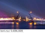 Купить «Санкт-Петербург. Разведённые Дворцовый и Благовещенский мосты», эксклюзивное фото № 3696009, снято 23 июня 2012 г. (c) Литвяк Игорь / Фотобанк Лори