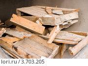Разломанные деревянные ящики. Стоковое фото, фотограф Константин Примачук / Фотобанк Лори