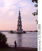 Калязин. Вид на Никольскую колокольню (2012 год). Стоковое фото, фотограф Алексей Шипов / Фотобанк Лори
