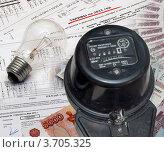 Купить «Тарифы на электроэнергию», фото № 3705325, снято 27 апреля 2012 г. (c) Геннадий Соловьев / Фотобанк Лори