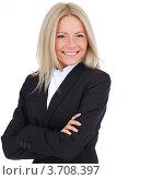 Купить «Женщина в строгом деловом костюме», фото № 3708397, снято 4 октября 2010 г. (c) Иван Михайлов / Фотобанк Лори
