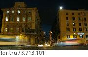 Купить «Ночная Пьяцца Венеция, Рим, италия, таймлапс ночью», видеоролик № 3713101, снято 16 сентября 2010 г. (c) Losevsky Pavel / Фотобанк Лори