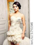 Купить «Красивая невеста в платье с короткой юбкой», фото № 3713545, снято 18 апреля 2011 г. (c) Эдуард Стельмах / Фотобанк Лори