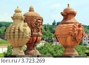 Терракотовые вазы замка Троя. Прага (2012 год). Стоковое фото, фотограф Кутдусова Марина / Фотобанк Лори