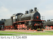 Купить «Паровоз серии Э», фото № 3724409, снято 8 мая 2010 г. (c) Василий Фирсов / Фотобанк Лори