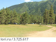 Купить «Палаточный лагерь на горном курорте «Архыз». Поляна Таулу. КЧР», эксклюзивное фото № 3725617, снято 21 июля 2012 г. (c) Rekacy / Фотобанк Лори