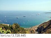 Вид с горы города Таормино, Сицилия. Стоковое фото, фотограф Екатерина Слугина / Фотобанк Лори