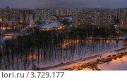 Купить «Небо над городом темнело (Таймлапс)», видеоролик № 3729177, снято 14 марта 2011 г. (c) Losevsky Pavel / Фотобанк Лори