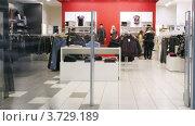 Купить «В супермаркете Aushan(Таймлапс)», видеоролик № 3729189, снято 9 декабря 2010 г. (c) Losevsky Pavel / Фотобанк Лори