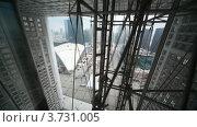 Купить «Арка Дефанс в Париже, подъем на лифте», видеоролик № 3731005, снято 13 февраля 2011 г. (c) Losevsky Pavel / Фотобанк Лори