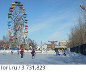 Купить «Город Копейск, Челябинская область, городской парк, каток, зима», фото № 3731829, снято 14 февраля 2010 г. (c) елена прекрасна / Фотобанк Лори