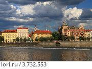 Прага, вид с реки Влтавы (2012 год). Стоковое фото, фотограф Чихний Анастасия / Фотобанк Лори