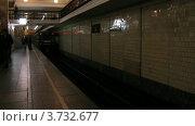 Купить «В московском метро, таймлапс», видеоролик № 3732677, снято 17 декабря 2010 г. (c) Losevsky Pavel / Фотобанк Лори