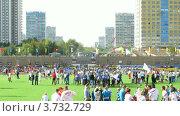 """Купить «Стадион """"Янтарь"""" в Строгино (Таймлапс)», видеоролик № 3732729, снято 22 декабря 2010 г. (c) Losevsky Pavel / Фотобанк Лори"""