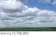 Купить «Белые облака плывут над Москвой в летний день, таймлапс», видеоролик № 3736493, снято 31 мая 2011 г. (c) Losevsky Pavel / Фотобанк Лори