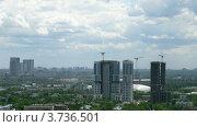 Купить «Строительство высокого здания(таймлапс)», видеоролик № 3736501, снято 6 июля 2011 г. (c) Losevsky Pavel / Фотобанк Лори
