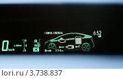 Купить «Панель в салоне автомобиля Toyota Prius», видеоролик № 3738837, снято 26 июня 2011 г. (c) Losevsky Pavel / Фотобанк Лори
