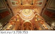 Купить «Расписные стены и потолок в православном храме Христа Спасителя», видеоролик № 3739753, снято 5 июня 2011 г. (c) Losevsky Pavel / Фотобанк Лори