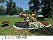 Купить «Цветочное панно в парке города Одинцово. Московская область», эксклюзивное фото № 3739965, снято 4 июля 2012 г. (c) lana1501 / Фотобанк Лори