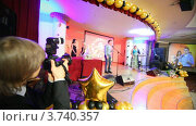 Купить «XIV церемония награждения Блокбастер  в гостинице Ренессанс», видеоролик № 3740357, снято 23 июня 2011 г. (c) Losevsky Pavel / Фотобанк Лори