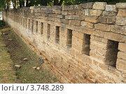 Купить «Фрагмент крепостной стены на Крепостной горе в г. Ставрополе», эксклюзивное фото № 3748289, снято 11 августа 2012 г. (c) Rekacy / Фотобанк Лори