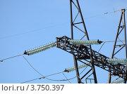 Опора ЛЭП (фрагмент) Стоковое фото, фотограф Воробьев Валерий / Фотобанк Лори