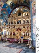Иконостас Верхней церкви, Валаам. Стоковое фото, фотограф Пётр Ваньков / Фотобанк Лори