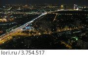 Купить «Ночное автомобильное движение в Москве, таймлапс», видеоролик № 3754517, снято 26 сентября 2011 г. (c) Losevsky Pavel / Фотобанк Лори