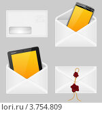 Купить «Конверты со смартфонами», иллюстрация № 3754809 (c) Алексей Тельнов / Фотобанк Лори