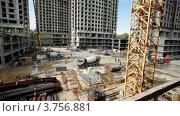 Купить «Строительная площадка», видеоролик № 3756881, снято 28 августа 2011 г. (c) Losevsky Pavel / Фотобанк Лори