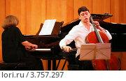 Купить «Нарек Ахназарян играет на виолончели Антонио Страдивари, Гаянэ Ахназарян играет на пианино в Органном зале», видеоролик № 3757297, снято 30 сентября 2011 г. (c) Losevsky Pavel / Фотобанк Лори