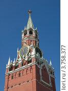 Купить «Спасская башня Московского Кремля», эксклюзивное фото № 3758377, снято 3 августа 2012 г. (c) Елена Коромыслова / Фотобанк Лори