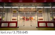 Купить «Стеклянные двери на входе в магазин мебели», видеоролик № 3759645, снято 6 октября 2011 г. (c) Losevsky Pavel / Фотобанк Лори