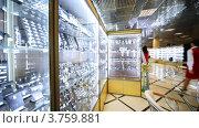 Купить «Выставочный зал с витринами ювелирных изделий в салоне Эстет», видеоролик № 3759881, снято 30 сентября 2011 г. (c) Losevsky Pavel / Фотобанк Лори